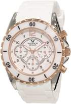 Rosegold Viceroy Women's 47562-95 White Ceramic Rose-gold Rubber Watch