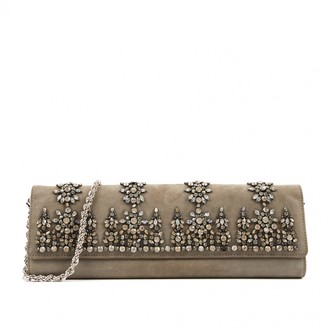 Roberto Cavalli Grey Suede Clutch bags