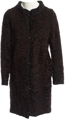Lanvin Brown Astrakhan Coat for Women Vintage