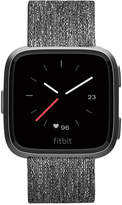 Fitbit Versa Charcoal Woven Band Touchscreen Smart Watch 39mm