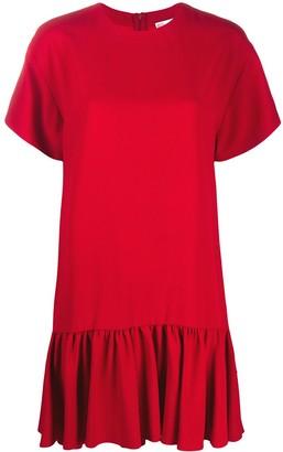 RED Valentino Peplum-Hem Short Dress