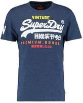 Superdry Premium Goods Print Tshirt Navy Cobalt Grit