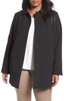 Tahari Plus Size Women's Jordan A-Line Crepe Coat