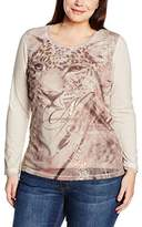 Via Appia Women's T-SHIRT RUNDHALS LANGARM MOTIV Crew Neck Long Sleeve T-Shirt - multi-coloured -