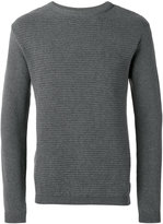 Oliver Spencer ripple stitch crew neck jumper - men - Cotton - S