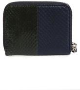 AllSaints Women's Ikuya Leather & Genuine Snakeskin Wallet - Blue