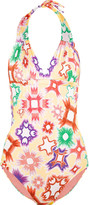 Missoni Printed halterneck swimsuit