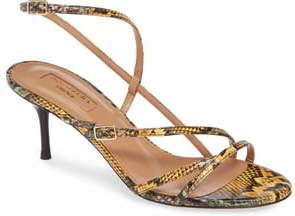 Aquazzura Carolyne Genuine Snakeskin Sandal