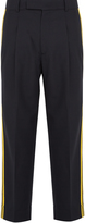 Gucci Wool striped-panel trousers