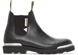 Lanvin Black Calfskin Chelsea Boots