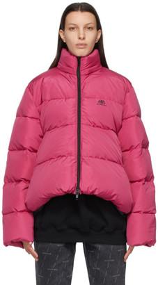 Balenciaga Pink C-Shape BB Puffer Jacket