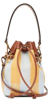 Fendi Mon Tresor Mini Striped Canvas Bucket Bag - Yellow Multi