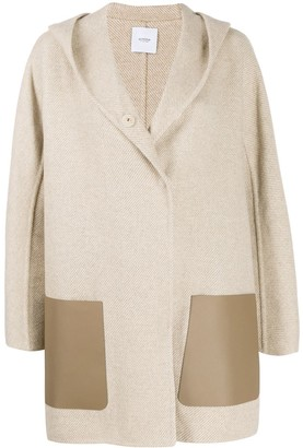 Agnona cashmere hooded coat