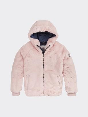 Tommy Hilfiger TH Kids Faux Fur Hooded Jacket