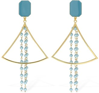 ROWEN ROSE Empty Triangle Clip-on Pendent Earrings