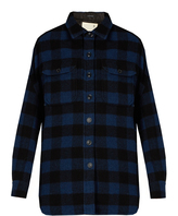 R 13 Oversized checked wool-blend jacket