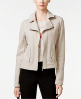 Alfani Textured Knit Moto Jacket, Only at Macy's