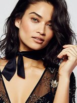 Free People Evelyn Suede Bow Choker