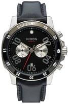Nixon Men's 'The Ranger' Chronograph Leather Strap Watch, 44Mm