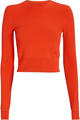 Victoria Victoria Beckham Cropped Crewneck Sweater