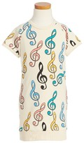 Mini Rodini Toddler Girl's Clef Sweatshirt Dress