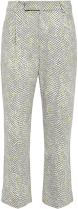 Equipment Bergen Snake-print Washed-crepe Kick-flare Pants