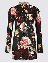 Per Una Printed Longline Long Sleeve Shirt