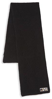 Roberto Cavalli Chunky Ribbed Wool Scarf