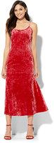 New York & Co. Velvet Midi Slip Dress