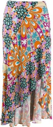 Pinko Patchwork Asymmetric Skirt