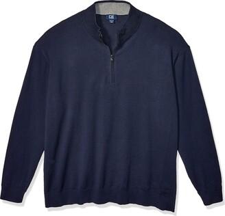 Cutter & Buck Men's Big and Tall Big & Tall Machine Washable Lakemont Half-Zip Sweater