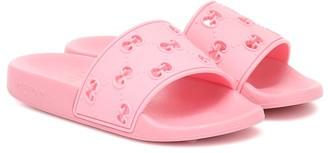 Gucci Kids GG embossed rubber slides