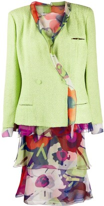 Chanel Pre Owned Floral Skirt Suit
