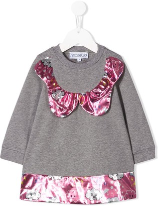 Simonetta Printed Panel Sweatshirt Dress