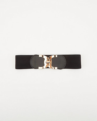 Le Château Elastic & Faux Leather Belt