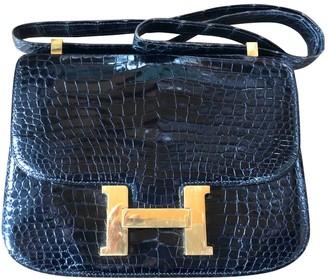 Hermes Constance Black Crocodile Handbags