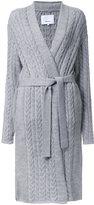 08sircus aran knit gown-length caridgan