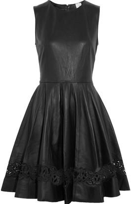 Iris & Ink Tina Laser-cut Leather Dress