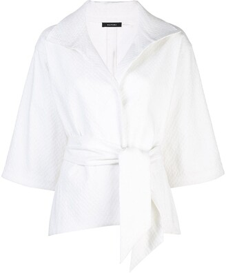 Natori Jacquard Belted Jacket
