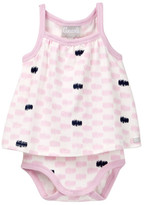 Coccoli Scribble Skirted Bodysuit (Baby Girls)