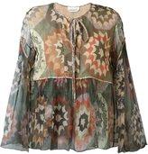 Chloé patchwork print smock blouse - women - Silk - 38