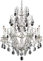 Schonbek Bordeaux 8-Light Chandelier in Antique Silver With Clear Legacy Crystal