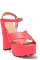 Chase & Chloe Ford Platform Ankle Strap Sandal