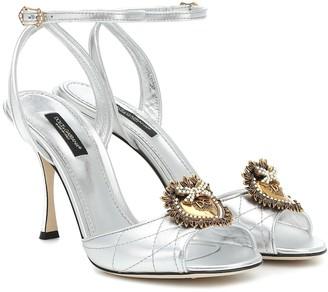 Dolce & Gabbana Keira matelassA leather sandals