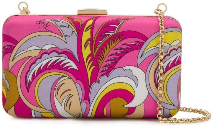 Emilio Pucci Pink Acapulco Print Box Clutch