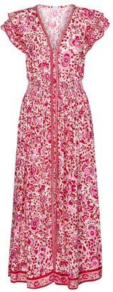 Poupette St Barth Della floral maxi dress