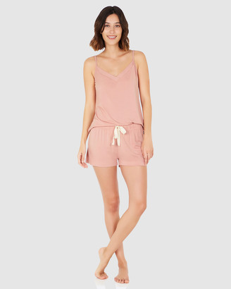 Boody Organic Bamboo Eco Wear - Women's Pink Two-piece sets - Goodnight Sleep Set - Cami and Shorts - Dusty Pink - Size One Size, XS at The Iconic