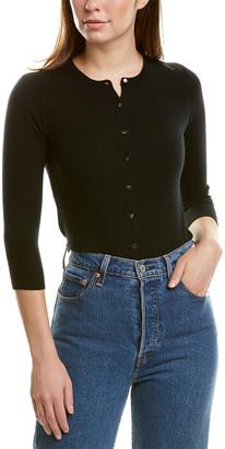 Autumn Cashmere 3/4-Sleeve Cashmere Cardigan