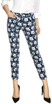 Allegra K Girls Vintage Floral Prints Slim Fit Cropped Pants Allegra Kids