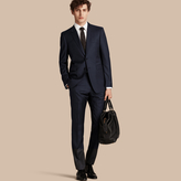 Burberry Modern Fit Micro Check Part-canvas Suit